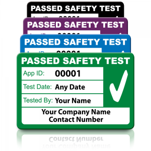 Personalised Medium 4th Edition Passed PAT Test Labels. Choice of Colours