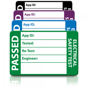 Medium 3rd Edition Passed PAT Test Labels. Choice of Colours