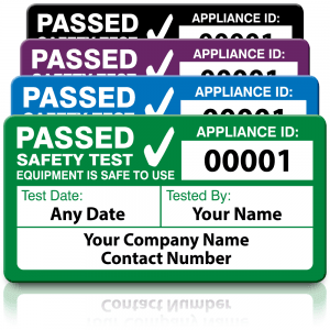 Personalised Standard 4th Edition Passed PAT Test Labels. Choice of Colours