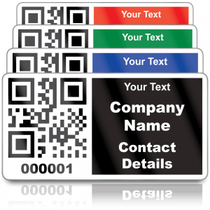 Heavy Duty Personalised QR Code Labels - Choice of colours