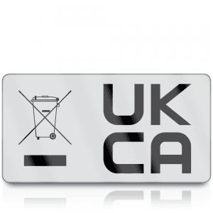 Premium Heavy Duty WEEE & UKCA Labels for UKCA Marking & Electronic Waste Disposal