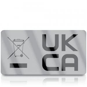 Silver Standard WEEE & UKCA Labels for UKCA Marking & Electronic Waste Disposal