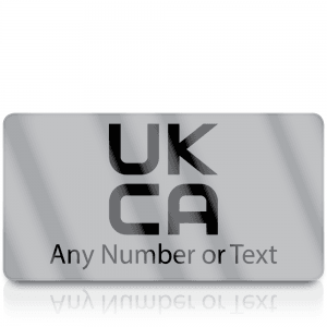 Personalised Silver Standard UKCA Labels for UKCA Marking