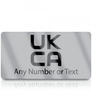 Personalised Silver Standard UKCA Labels for UKCA Marking
