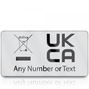 Personalised Premium Heavy Duty WEEE & UKCA Labels for UKCA Marking & Electronic Waste Disposal