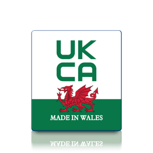 Premium Made in Wales UKCA Labels - Sticks to almost anything!