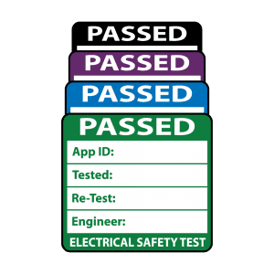 Plug Top Sized 3rd Edition Passed PAT Test Labels. Choice of Colours