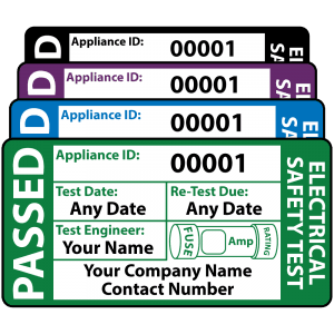 Personalised 3rd Edition Standard Passed PAT Test Labels. Choice of Colours