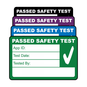 Medium 4th Edition Passed PAT Test Labels. Choice of Colours