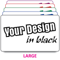Large Size Labels to Your Design. Choice of colours