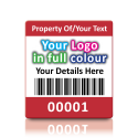 Super Stick Asset Labels Fully Customisable - Sticks to almost anything! Design 1