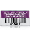 Heavy Duty Standard Size Asset ID Labels - Design 2. Variety of Colours