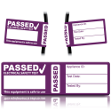4th Edition Passed PAT Wrap Labels for PAT Testing. Choice of Colours