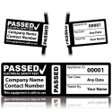 Personalised 4th Edition Passed PAT Wrap Labels for PAT Testing. Choice of Colours