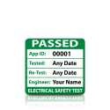 Plug Top Sized Personalised 3rd Edition Passed PAT Test Labels. Choice of Colours