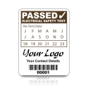 Custom PAT Test Labels - Design 1. Variety of colours
