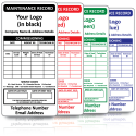 (150mm x 75mm) Personalised Large Fire Extinguisher Maintenance Labels. Variety of colours