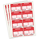 Extra Large Personalised Fire Alarm Inspection Labels in Full Colour. Choice of Colours