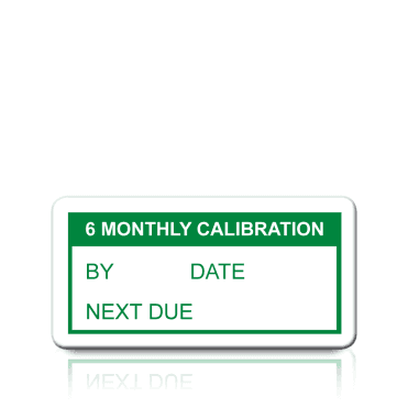 6 Monthly Calibration Labels in Green