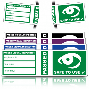 4th Edition Visual Inspection Pat Wrap Labels. Choice of Colours
