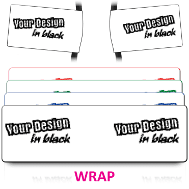 Wrap Size Labels to Your Design. Choice of colours