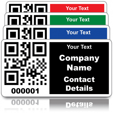 Budget Personalised QR Code Labels - Choice of colours