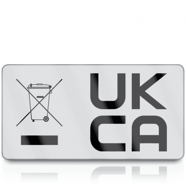 Premium Heavy Duty WEEE & UKCA Labels for UKCA Marking & Electronic Waste Disposal