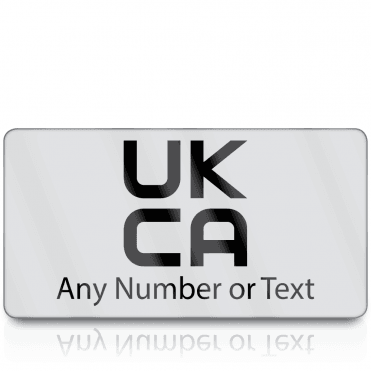 Personalised Premium Heavy Duty UKCA Labels for UKCA Marking