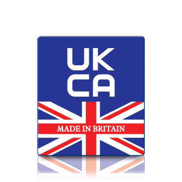 Premium Made in Britain UKCA Labels - Sticks to almost anything!